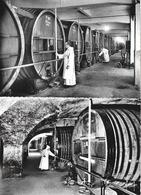 Voiron - Caves De La Distillerie De La Grande Chartreuse, Foudres En Chêne De Russie - Lot De 2 CPSM - Voiron