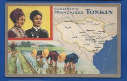 Colonies Françaises TONKIN - Landkaarten