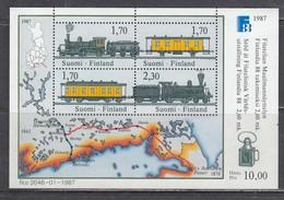 Finland 1987 - Trains, Mi-Nr. Bl. 3, MNH** - Finnland