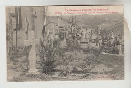 CPA MENIL SUR BELVITTE (Vosges) - Guerre De Lorraine 1914/15 : Le Cimetière Au 1er Plan Tombes Officiers Français - Autres Communes