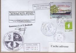 TAAF PLI CROZET TP 601+679 Obl. 7 11 2013 Posté à Bord MARION DUFRESNE Signé Du Cdt. Cachets Divers Recto Verso - Non Classificati