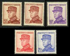 Monaco 1937 Yvert 159 - 161 - 162 - 164 - 166 ** TB - Neufs