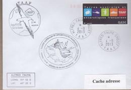 TAAF PLI CROZET TP 681 Obl. 4 9 2013  Cachets Divers - Zonder Classificatie