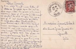 FRANCE 1944 CARTE POSTALE DE COGNIN LES GORGES - Storia Postale