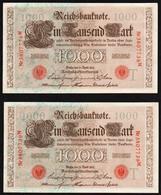 ALLEMAGNE: Lot De 3 Billets Neufs De 1000 Mark. Berlin Le 21/04/1910. Suite De 3 Numéros Qui Se Suivent. - 1000 Mark