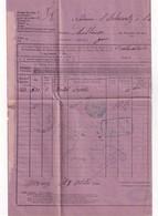 SUISSE 1880 LETTRE DE VOITURE FERROVIAIRE DE VEVEY POUR MULHOUSE - Covers & Documents