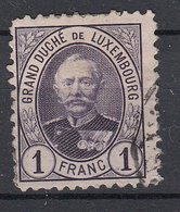 LUXEMBURG - Michel - 1891 - Nr 64 D - Gest/Obl/Us - 1891 Adolphe Front Side