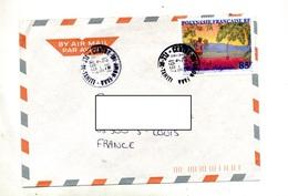 Lettre  Cachet Centre Tri Avion Faaa Sur Artistes - Polinesia Francese