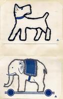 Lot De 12 Très Anciens Piquages (laine Sur Carton) Réalisés Par Une Enfant (cours De Travaux Manuels), Années 1920 - Loisirs Créatifs