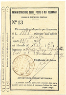 ISOLA DI NISIDA NAPOLI DC SU RICEVUTA POSTE CASSE DI RISPARMIO - 1946-60: Storia Postale