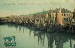 """76 Seine Maritime :  Le Havre  Les Bateaux """" Péqueux""""au Quai De La Quarantaine à Honfleur     Réf 7735 - Hafen"""