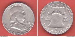 USA 50 Cents Half Dollar Franklin 1952 United States Of America 1/2 $ - Bondsuitgaven
