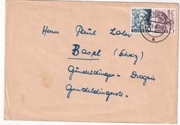 ALLEMAGNE 1948 ZONE FRANCAISE LETTRE DE LÖRRACH - Zona Francese