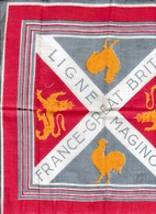 Souvenir LIGNE MAGINOT - Visite Pendant La Drôle De Guerre - FRANCE-GREAT BRITAIN Avec Coqs Et Lions Royaux - Historische Dokumente