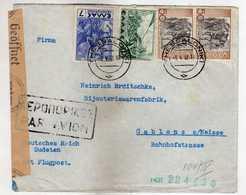 Greece - Thessaloniki Letter 1942 Via ( Jablonec Nad Nisou ) Czech Republic, Gablonz An Der Neisse - Germany,censorship - Grèce