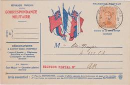 N° 135 Carte Postale Correspondance Militaire 1916 Legerposterij - 1915-1920 Albert I