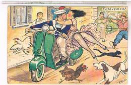 Illustrateur   Poli     HUMOUR  PIN UP VESPA  Pin Up  Marin   Enlevement - Altre Illustrazioni