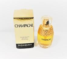 Miniatures De Parfum  CHAMPAGNE De  YVES SAINT LAURENT EDT  7.5  Ml SPRAY + BOITE - Modern Miniatures (from 1961)