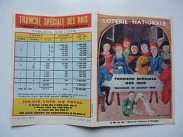 VIEUX PAPIERS - LOTERIE NATIONALE : Tranche Spéciale Des Rois - Tirage Mercredi 10 Janvier 1968 - Tableau Des Lots - Billetes De Lotería