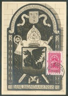 N°904 - 2Fr. VITRAIL De L'ABBAYE De MALMEDY Obl. Sc MALMEDY Sur Carte Maximum Du 15-4-1953, Envoyée Avec Timbre N°935 (3 - Maximum Cards