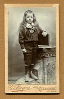 """CDV  : """" LANGRES - Un Enfant - écolier """"  Photo PARGON - Photos"""