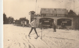 ****  Photo Carte Format CPA Dos Vierge  - CHALET MAGGI - Font Romeu - Sports D'hiver