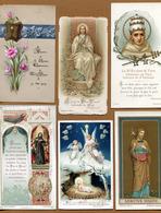 LOT De 6 JOLIES IMAGES RELIGIEUSES ANCIENNES - Images Religieuses