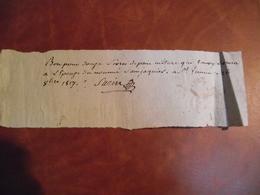 BON Pour Livraison De 12 Livres De Pain, 1817 ST Junien 87 - Non Classificati
