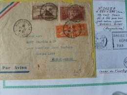262!!B +260+286 (paire) Obl 11/1/36 De Paris Pour Buenos-Aires ( Argentine) Sur Env .par Avion - Francia