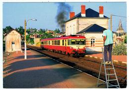 Montrichard / La Gare / 1995 / Autorail EAD X 4401 - Montrichard