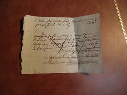 BON Pour Livraison De 63 Livres De Pain, 1816, ST Junien 87 - Non Classificati