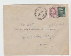 MATIGNON Horoplan / Yv 713 + 718 / LSI De 1947 Au Tarif Pour PARIS - Marcophilie (Lettres)