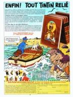 """PUB """" TINTIN """" Editions ROMBALDI 1987 ( 1 ) - Livres, BD, Revues"""