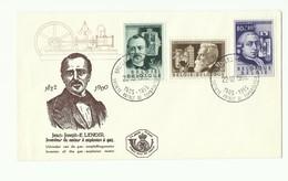 N°973/978 - Série Les INVENTEURS Obl. Sc BRUXELLES S.R. De Timbrologie Sur 2 Envloppes Du 22-10-1955 (Baekeland - Lenoir - Maximum Cards