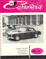 """1961 Carrosserie  No 176  """" Facel  Vega  En Couverture """" - Automobili"""