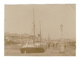 PHOTO (10,5x 8cm Env.) -GRANVILLE ( A Confirmer) Bateaux A Quai (beau Cliché) - Places