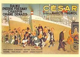 Albert DUBOUT - Editions Jean Dubout N'D 3 - Affiche Du Film César De Marcel Pagnol - Bateaux - Enterrement - Cinéma - Dubout