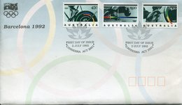 JO Barcelone 92 - AUSTRALIA - FDC + 3 CARTES MAXIMUM ET TIMBRES NEUFS MNH** - Estate 1992: Barcellona