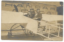 CARTE PHOTO-Avion Monoplan Et Les Aviateurs... - ....-1914: Précurseurs