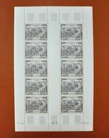 Feuille Complète De 10 Timbres POSTE AERIENNE - ** 29 Paris, 1000f - Coin Daté 16.12.49 - Feuilles Complètes
