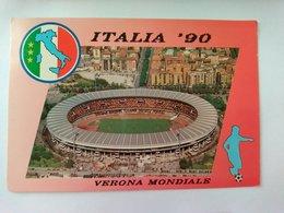 ITALIA 90 VERONA MONDIALE - STADIO - F.TO GRANDE - ANNULLO POSTALE - Fussball
