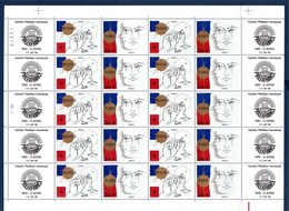= Philexfrance82 Dessins Symboliques De Trémois La France Paris Feuille Complète Neuve 10 Paires N°P2142A à 4f 2141 2142 - Full Sheets