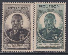 Réunion  N° 260 / 261  XX Gouverneur Félix Eboué  La Paire Sans Charnière TB - La Isla De La Reunion (1852-1975)