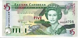 Billet Caraibes 5 Dollar - Caraibi Orientale