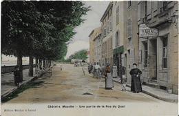 ~  JP  ~  88  ~   CHATEL ~ SUR  ~  MOSELLE  ~    Une Partie De La Rue  Du Quai  ~ - Chatel Sur Moselle