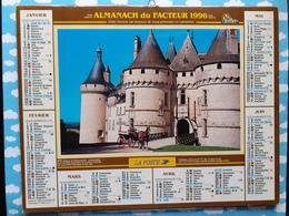 CALENDRIER DU FACTEUR ALMANACH CHATEAU  DE CHAUMONT FONTENAY LE COMTE 1996 - Grand Format : 1991-00