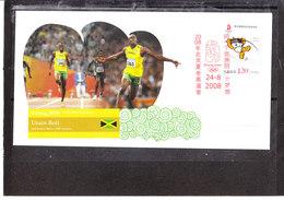 Chine/china - Jeux Olympiques De Pékin 2008 - Usain Bolt - Athlétisme 100M - Sommer 2008: Peking