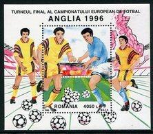 ROMANIA 1996 European Football Championship Block MNH / **.  Michel Block 300 - Blocks & Kleinbögen
