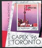 ROMANIA 1996 CAPEX '96 Exhibition Block MNH / **.  Michel Block 301 - Blocks & Kleinbögen