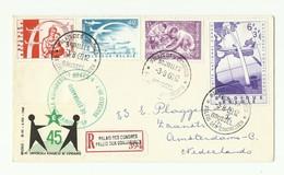 N°1141-1147/1149 - 1Fr. Indépendance Du Congo + Série PONT AERIEN  Obl. Sc PALAIS DES CONGRES BRUXELLES Sur Lettre Recom - FDC